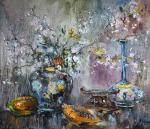 Чарина Анна. Японский натюрморт с цветущей вишней