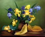 Kogay Zhanna. Still life with irises