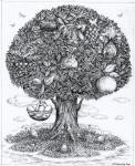 Дерево, полное птиц и плодов