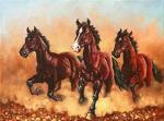 """Картина """"лошади"""". Вукович Душан"""