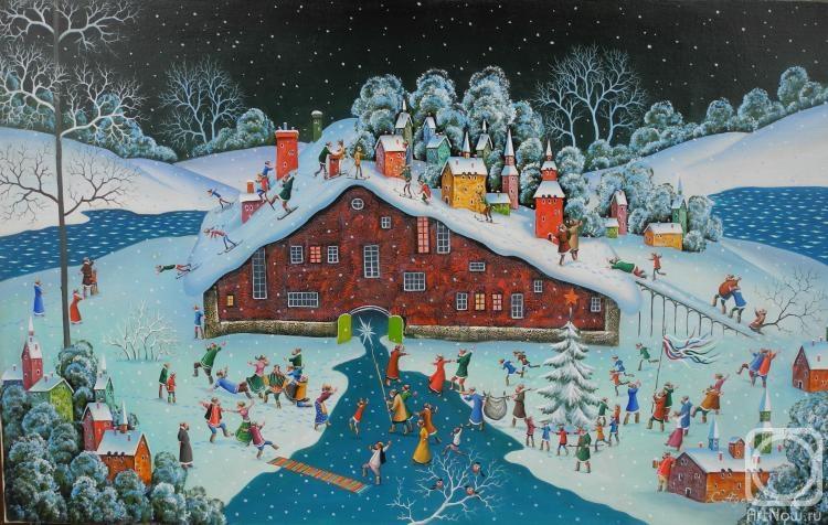 картина ночь перед рождеством елочные игрушки тюмени