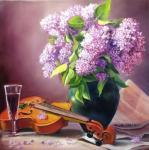 Kogay Zhanna. Lilac and Violin