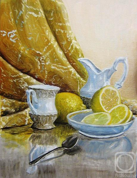 Peschanaia Olga. Still-life, lemon