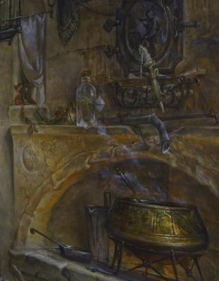 Monastery kitchen. Mural (fragment 1)