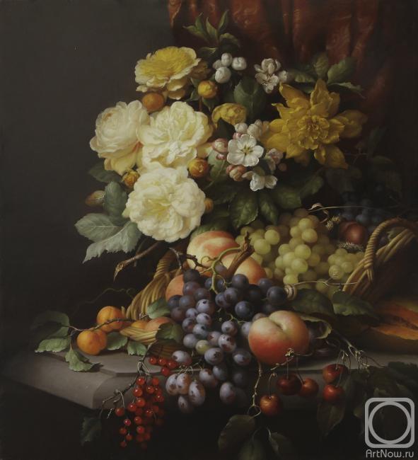Севрюков Дмитрий. Натюрморт с розами