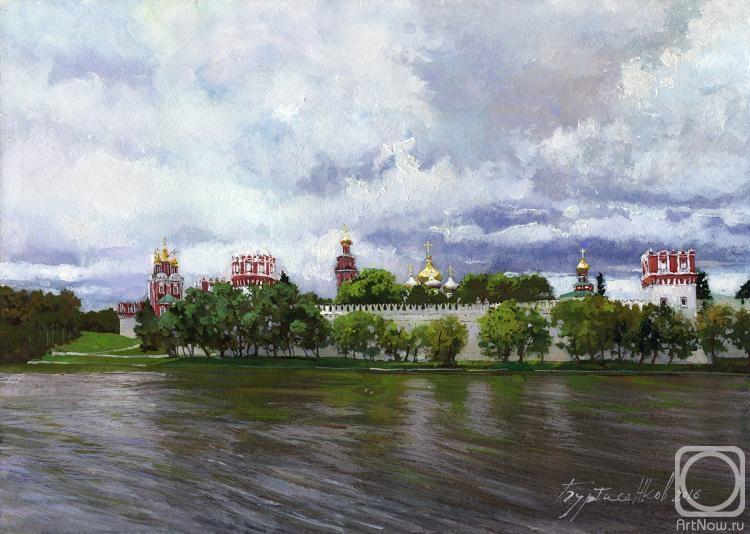 Буртасенков Алексей. Вид на Новодевичий монастырь в июне