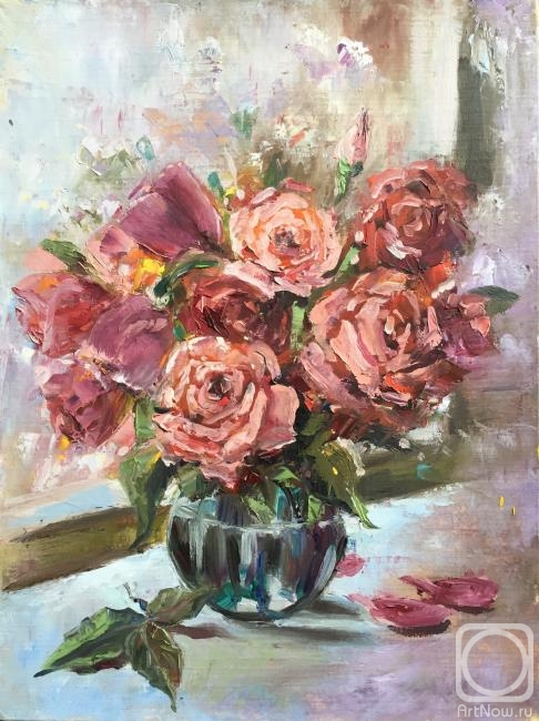Painting Roses In A Vase Buy On Artnow