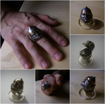 "Kozlov Kirill. Ring ""Warrior's Head"""