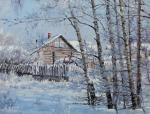 Volya Alexander. Winter day. Birches