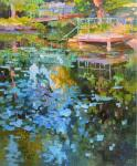 Chizhova Viktoria. Evening pond