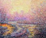 Баланцов Валерий. Пейзаж в розовых тонах