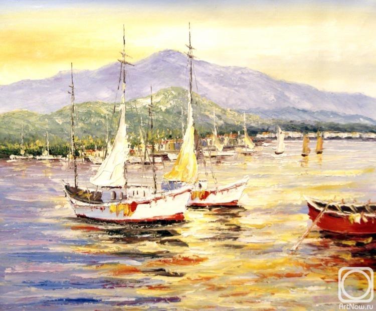 картины лодок маслом