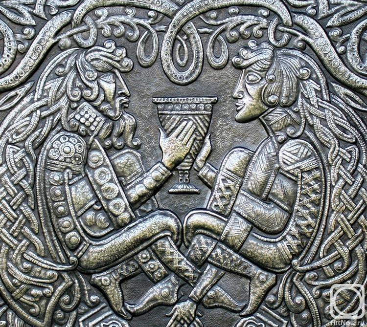 """Victor Morozov.  Gemini.  Panneaux de la série """"motifs celtiques"""" (détail)"""