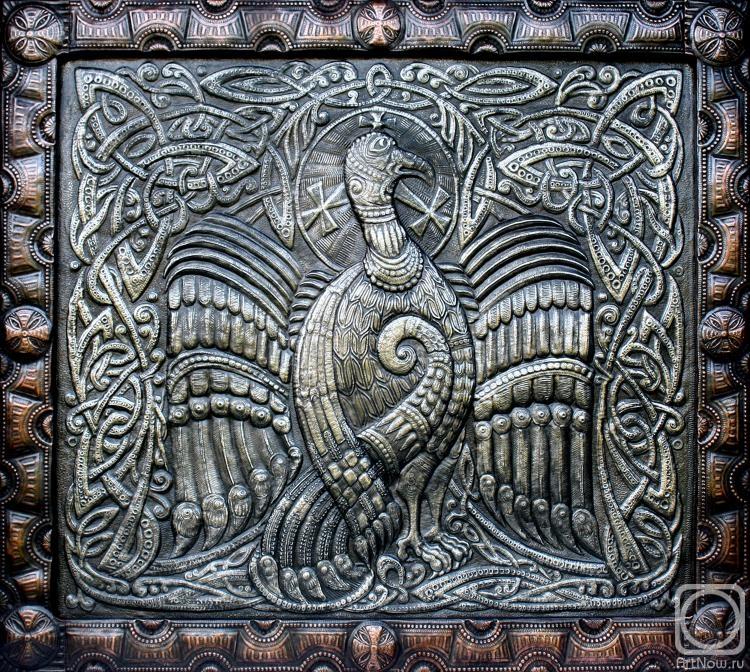"""Victor Morozov.  Partridge.  Panneaux de la série """"motifs celtiques"""""""