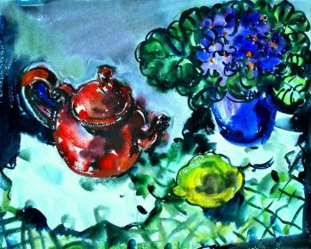 Polichtchouk Olga. still life with red tea