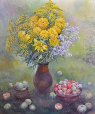 Milogradova Elizaveta. August still life on the grass