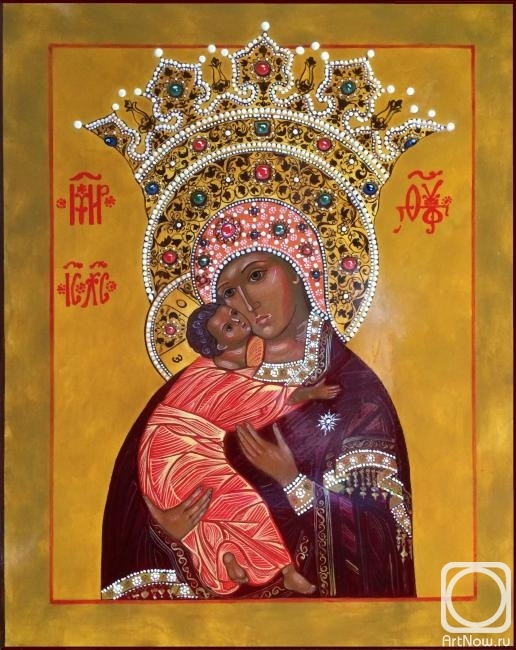 Volkova Anna. The Volokolamsk Icon Of The Mother Of God Vladimir