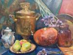 Veselkova Olga. samovar with pumpkin