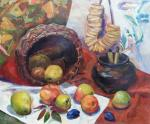 Veselkova Olga. Basket with apples