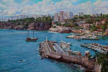 Samokhvalov Alexander. Harbor of Kaleichi in Antalya