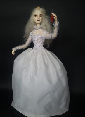 "Khotian Ivanna. Ooak Pure Sculpt doll ""The white Queen"""