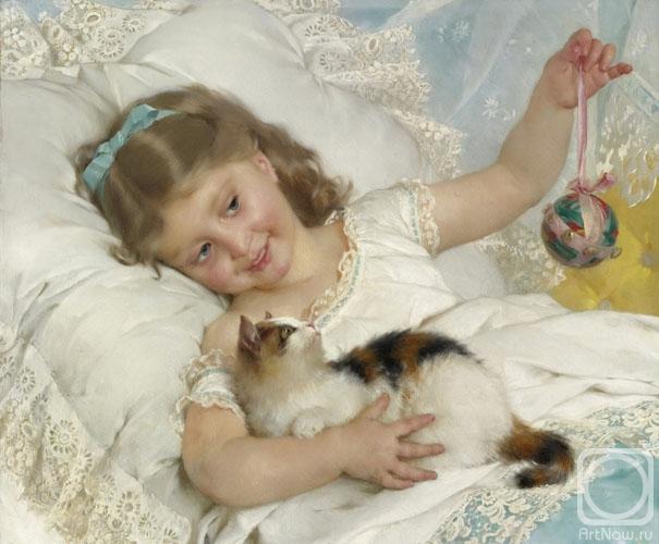 Жуков Фёдор. Девочка с котенком