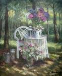 Krasnova Nina Sergeevna. In the shady garden