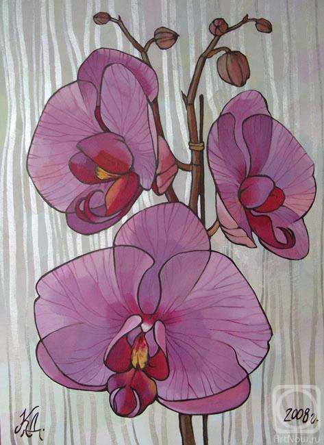 орхидея из бисера схема плетения.