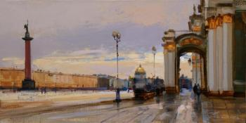 """Again in the area of the Palace glitters column silver ..."". St. Petersburg. Shalaev Alexey"