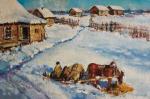 Kremer Mark Veniaminovich. Sunny winter day. Horse