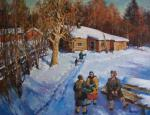 Kremer Mark. Russian Winter. Bathhouse