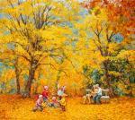 Leaf fall. Simonova Olga