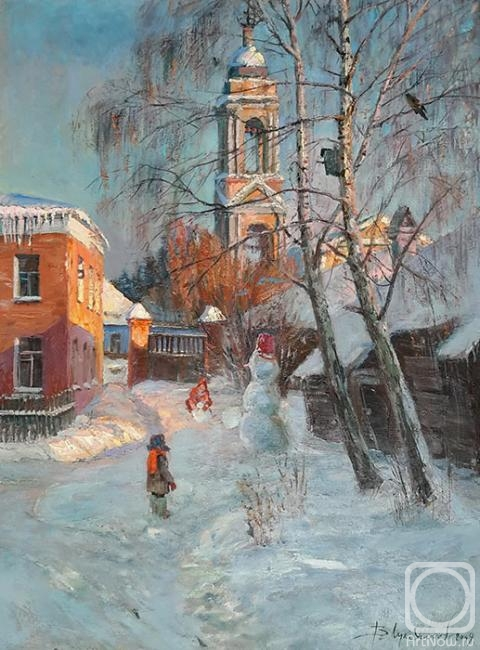 Loukianov Victor. Court yard in Kolomna