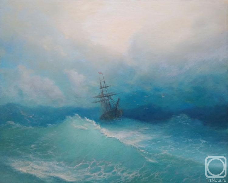 Ivanenko Michail. Free copy of a painting by Ivan Aivazovsky