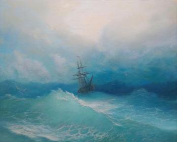 Free copy of a painting by Ivan Aivazovsky. Ivanenko Michail