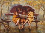 Симонова Ольга. Три девицы под дождем.