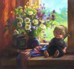 Шумакова Елена. Цветы и кукла