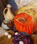 Rybina-Egorova Alena. Still life with a big pumpkin