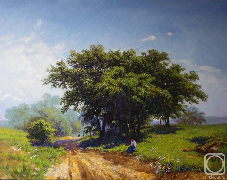 Simonova Olga. Summer hot day (Copy of a painting of F. Vasilyev)