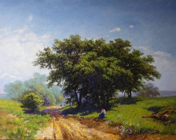 Summer hot day (Copy of a painting of F. Vasilyev)