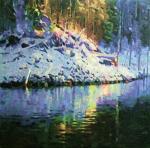 Рудник Михаил. Зимнее озеро