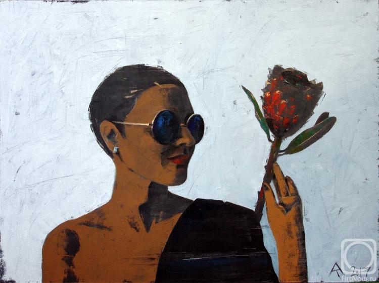 Абрамова Татьяна. Девушка и цветок