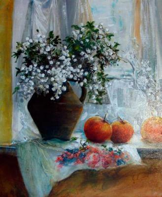 Still life on the window. Lednev Alexsander