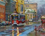 Чижова Виктория. Красный трамвайчик на Бауманской улице
