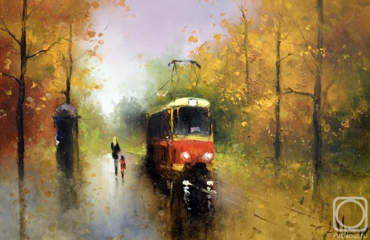 Медведев Игорь. Осенний трамвайчик