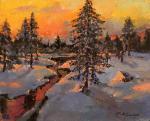 Кремер Марк. Огненный закат в лесу