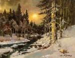 Кремер Марк. Закат в лесу зимой