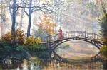 Пейзаж с мостиком. Панов Эдуард