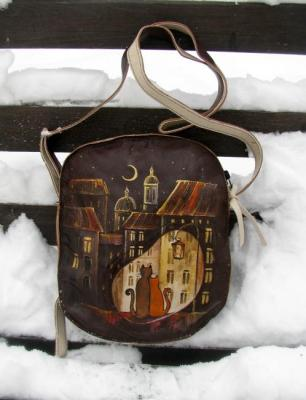 "Bag leather ""on the roof"". Zarechnova Yulia"