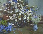 Rubinsky Pavel. Still life with daisies